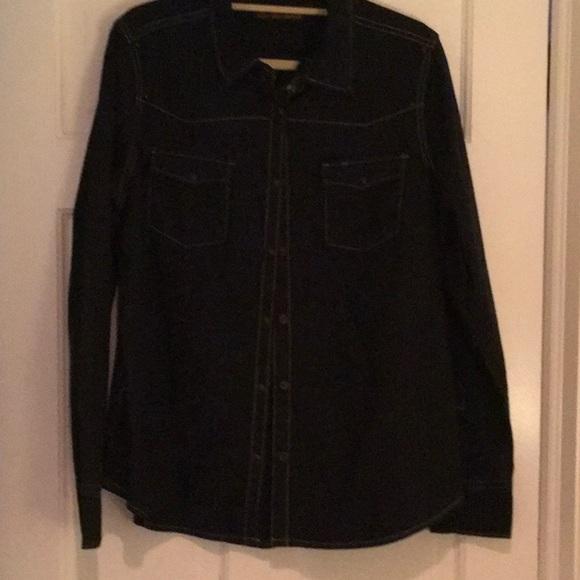 Harley Davidson Long Sleeve Jean Shirt